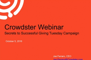 Giving Tuesday Webinar