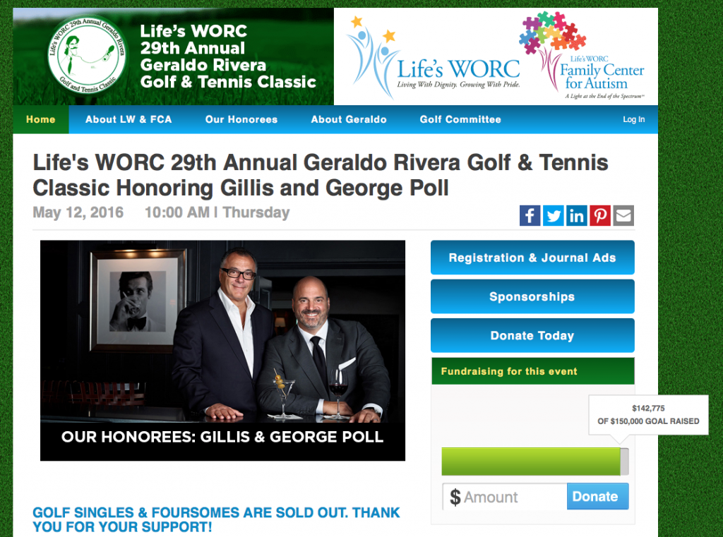LW golf event home page more SM icons