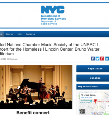 NYC Dept. of Homeless Services & The United Nations